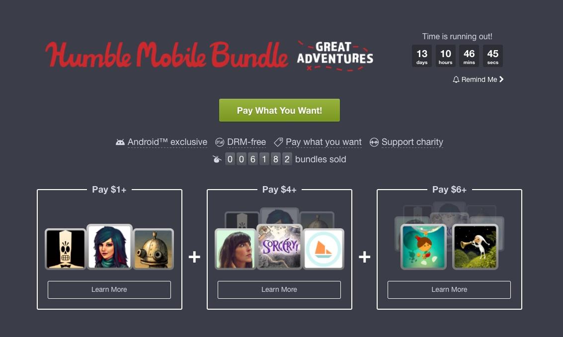 Non lasciatevi sfuggire il nuovo Humble Mobile Bundle: Grim Fandango, Her Story, Lumino City