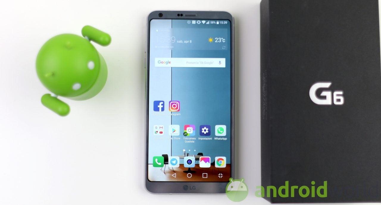 Nuovo aggiornamento per LG G6, ma solo in versione Vodafone e no brand