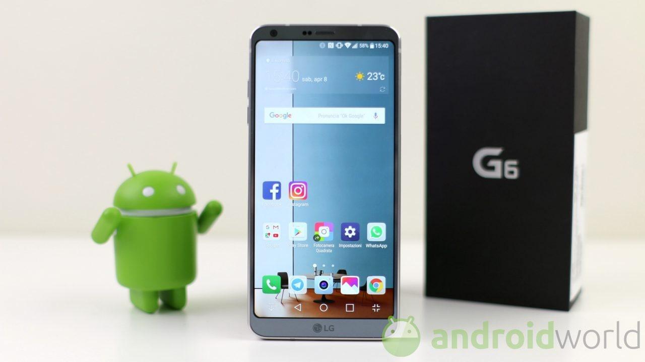 LG G6 a 300€ meno del prezzo di lancio: quest'anno la ...