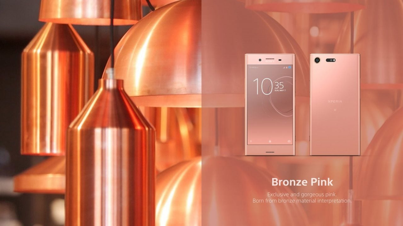 Sony Xperia XZ Premium sarà disponibile anche in Bronze Pink, ma non cambia la data di lancio
