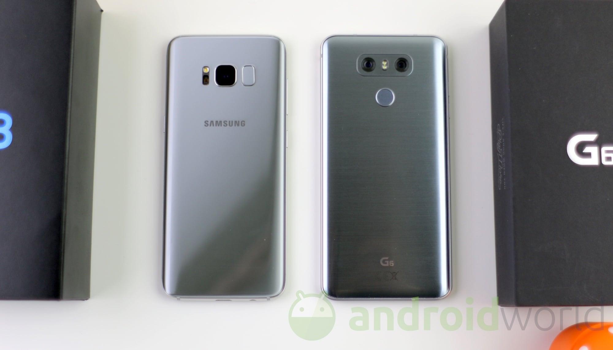 samsung galaxy s8 vs lg g6 il confronto foto e video