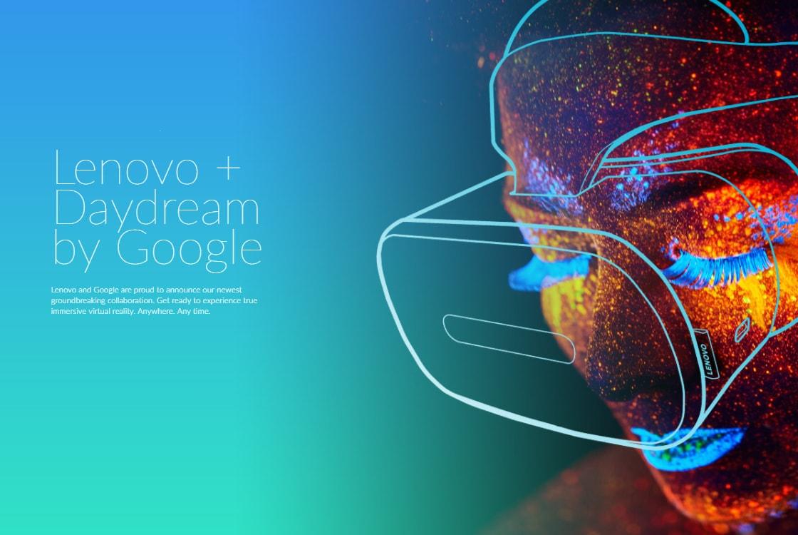 Prime immagini del Daydream VR standalone di Lenovo: la realtà virtuale senza smartphone o PC (video)