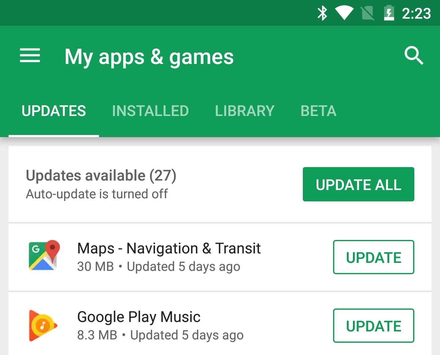 auto update play store suggestion