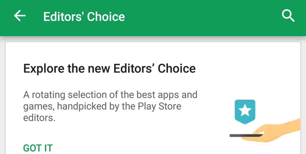 """Il Play Store segnalerà le app e i giochi """"eccellenti"""" grazie a due nuove sezioni dedicate (foto)"""