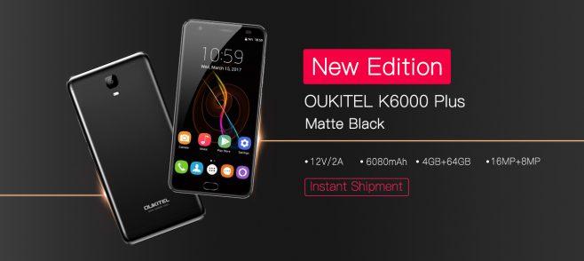 Doppia novità per Oukitel K6000 Plus: nuova variante nera e nuovo aggiornamento software