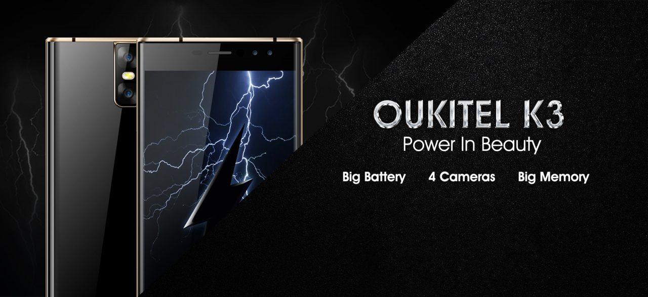 """Oukitel K3 arriverà ad agosto con le sue 4 fotocamere e una """"grande batteria"""" (foto)"""
