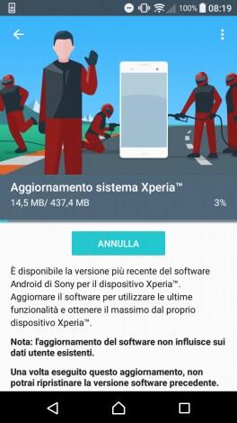 Sony Xperia X Compact riceve un nuovo aggiornamento con le patch di luglio