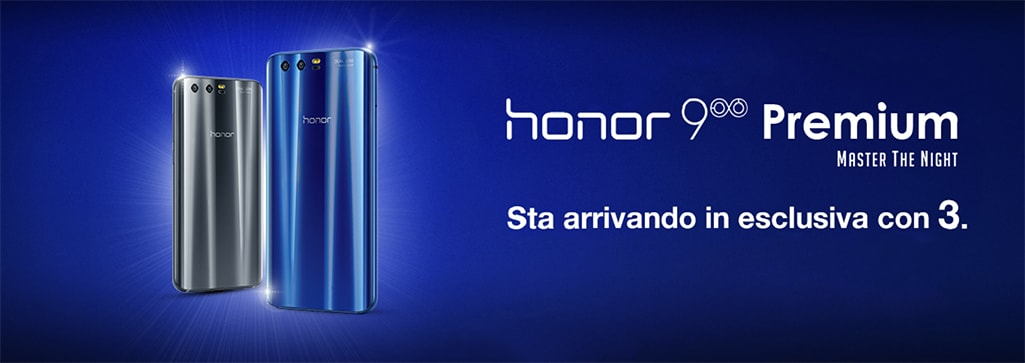honor 9 premium disponibile in italia in esclusiva con. Black Bedroom Furniture Sets. Home Design Ideas