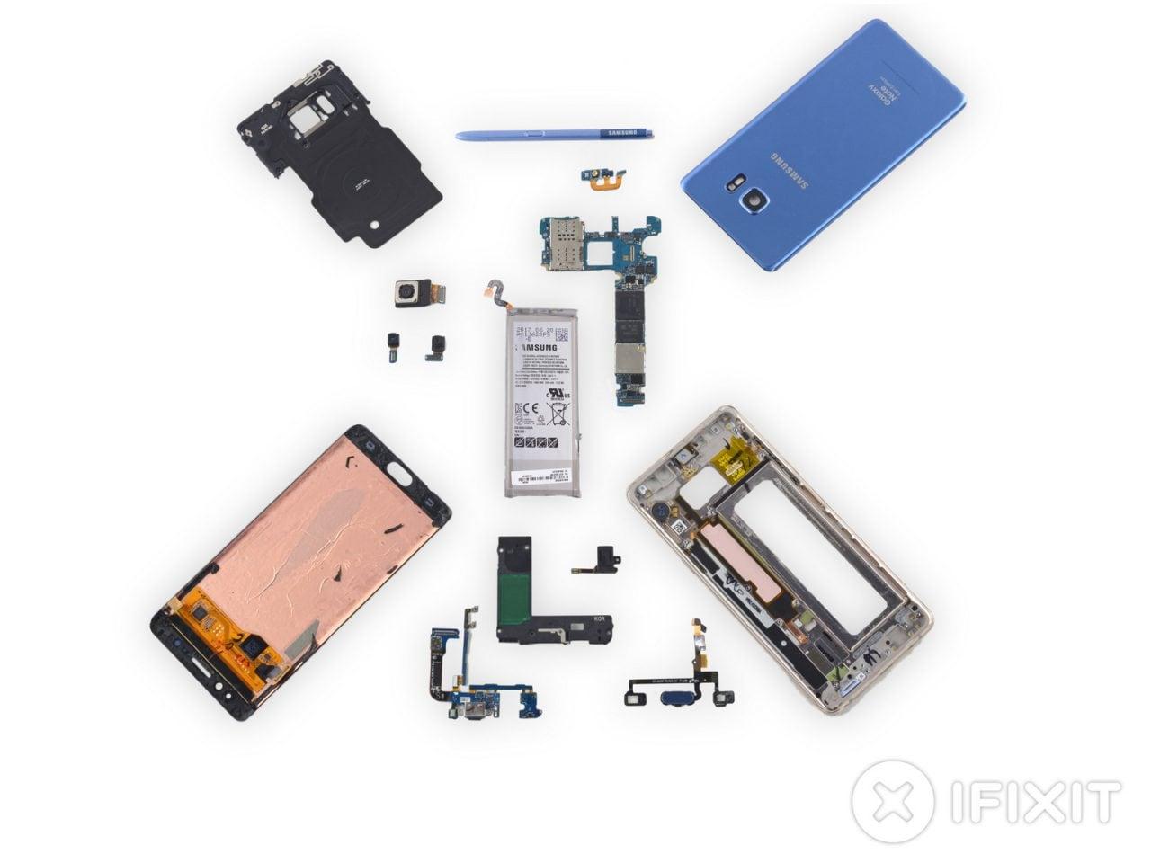 iFixit scioglie gli ultimi dubbi: Samsung Galaxy Note FE è un Note 7 con una piccola grande modifica (foto)