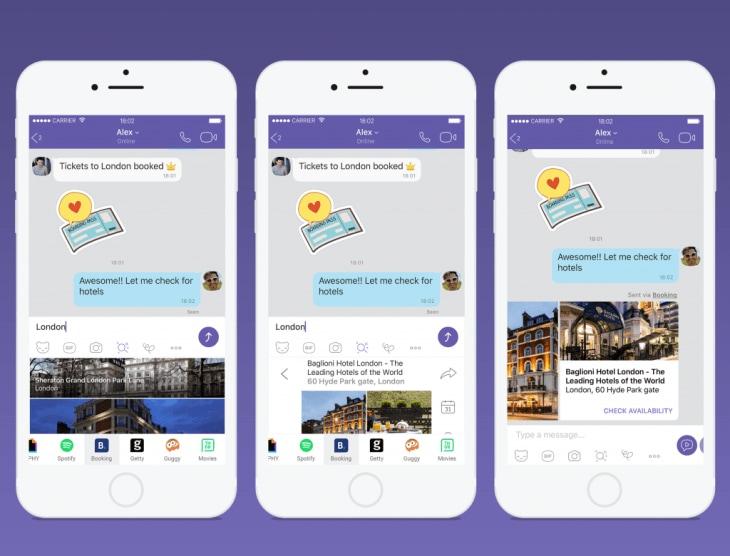 Viber si aggiorna con tante nuove estensioni per YouTube, Spotify, GIPHY ed altro ancora (foto)