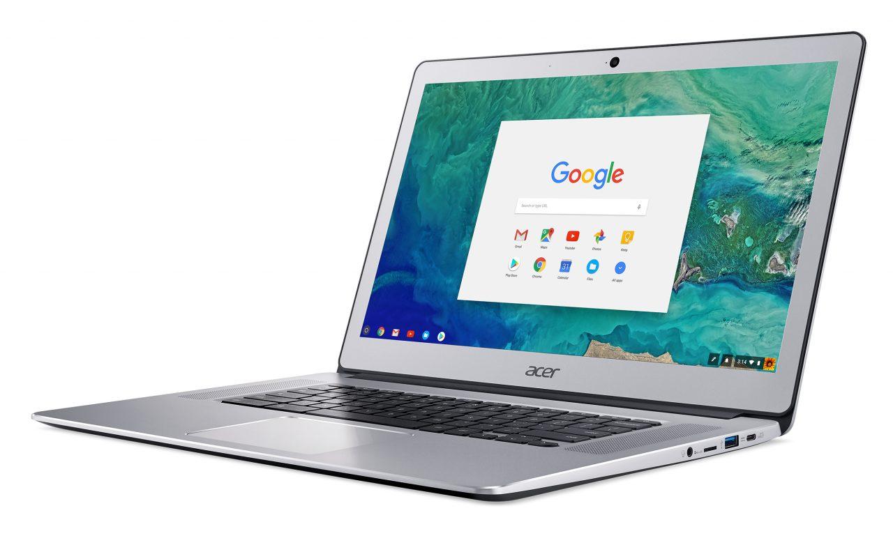 Acer Chromebook 15 2017 ufficiale: alluminio, tastiera retroilluminata e tante configurazioni (foto)