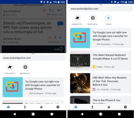 Chrome beta 62 porta alcune novità grafiche per la schermata