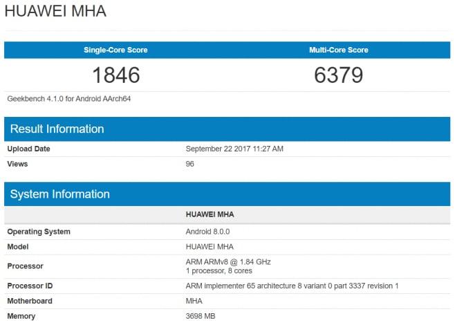 Huawei Mate 9 con a bordo Android Oreo fa capolino su Geekbench: aggiornamento alle porte? (foto)