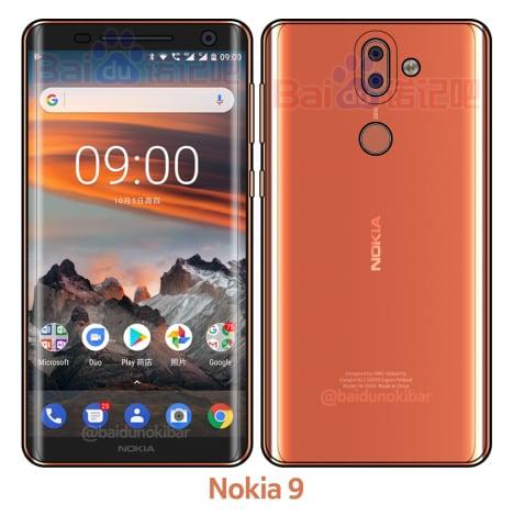 Nokia 9 emerge in una nuova immagine con specifiche tecniche al seguito