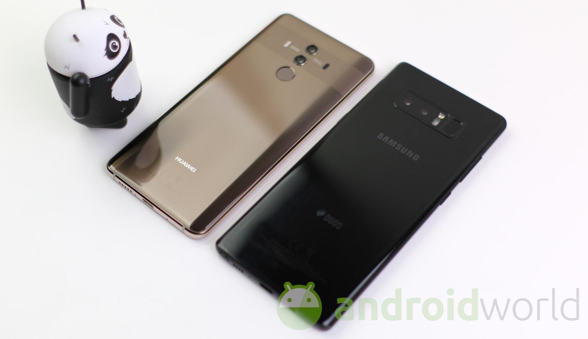 Huawei Mate 10 Pro vs Samsung Galaxy Note 8 – 7