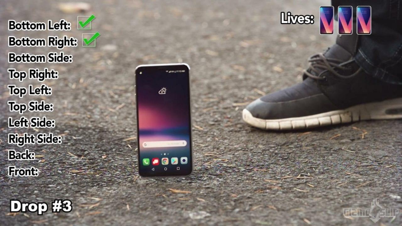 Sfida tra iPhone 8, Galaxy Note 8 e LG V30: chi resiste meglio alle cadute? (video)