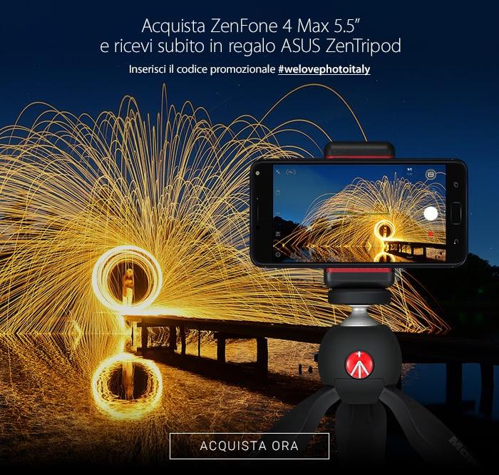 """Se acquistate il nuovo Zenfone 4 Max 5,2"""", ASUS vi regala il treppiede ZenTripod! (foto)"""