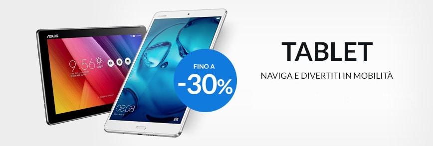 Su ePRICE tablet Android fino al -30%: Samsung, ASUS, Huawei e Lenovo (foto)