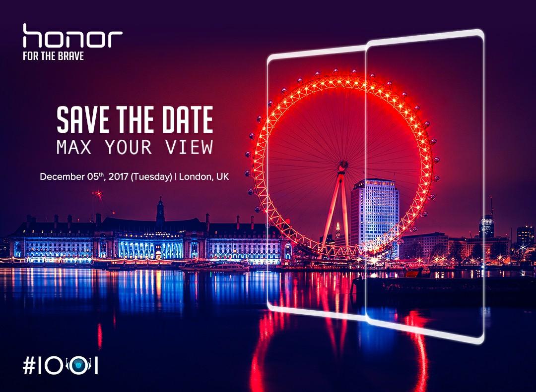 Honor ha fissato un evento europeo per il 5 dicembre: parola d'ordine, cornici ridotte (foto)