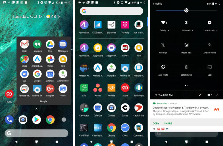 Il Pixel Launcher dei Pixel 2 cambia tema automaticamente in base allo sfondo (foto)