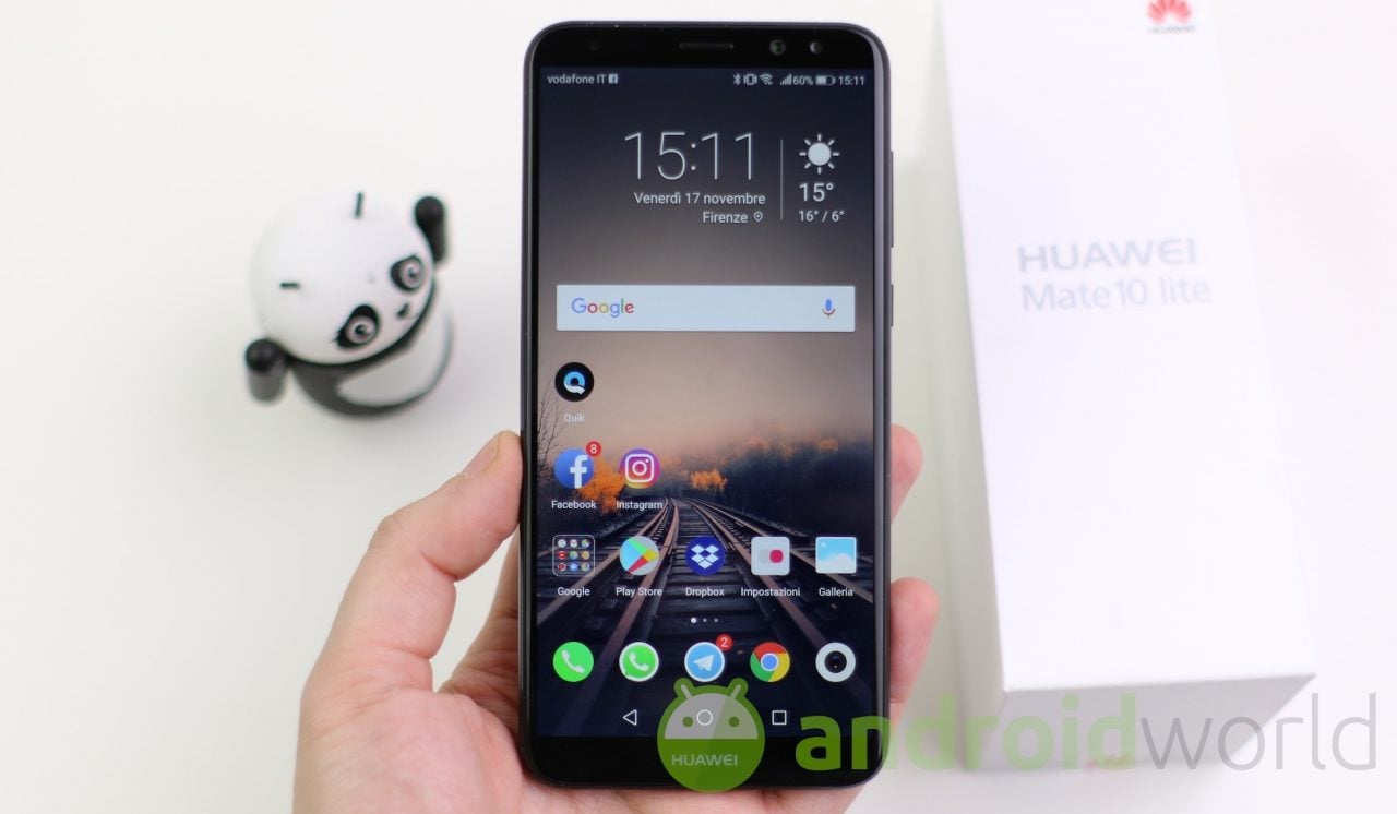 Huawei Mate 10 Lite guadagna lo sblocco tramite riconoscimento del volto e nuovi effetti per i selfie
