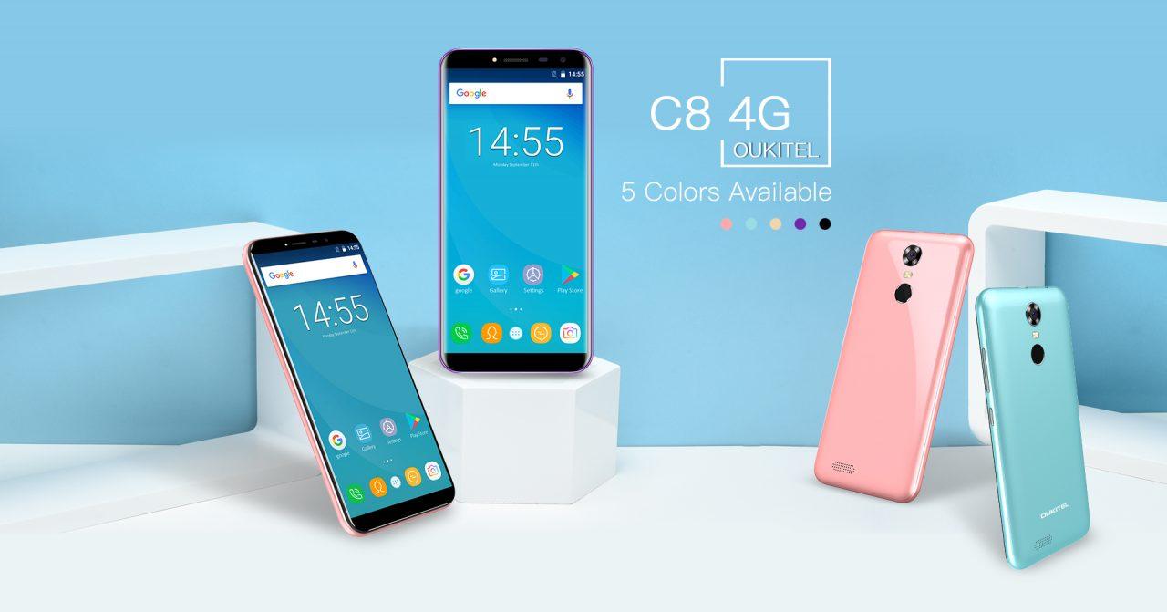 Oukitel C8 4G ufficiale: un piccolo Galaxy S8 entry level a meno di 80€ (foto e video)