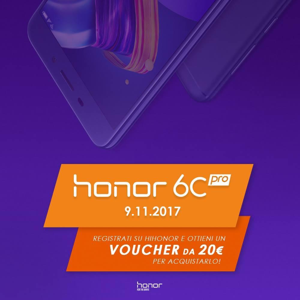 Honor 6C Pro sta arrivando in Italia: disponibile dal 9 novembre con 20€ di sconto