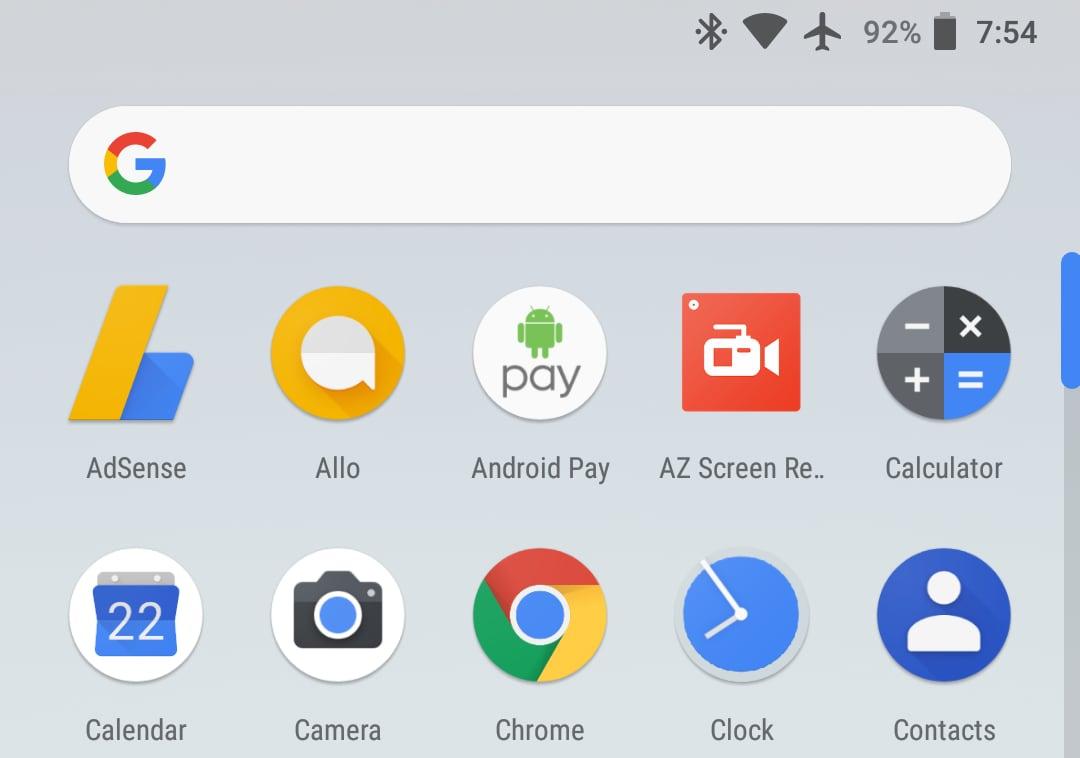 Le novità del Pixel Launcher di Android 8.1 arrivano anche sui primi Pixel (foto)