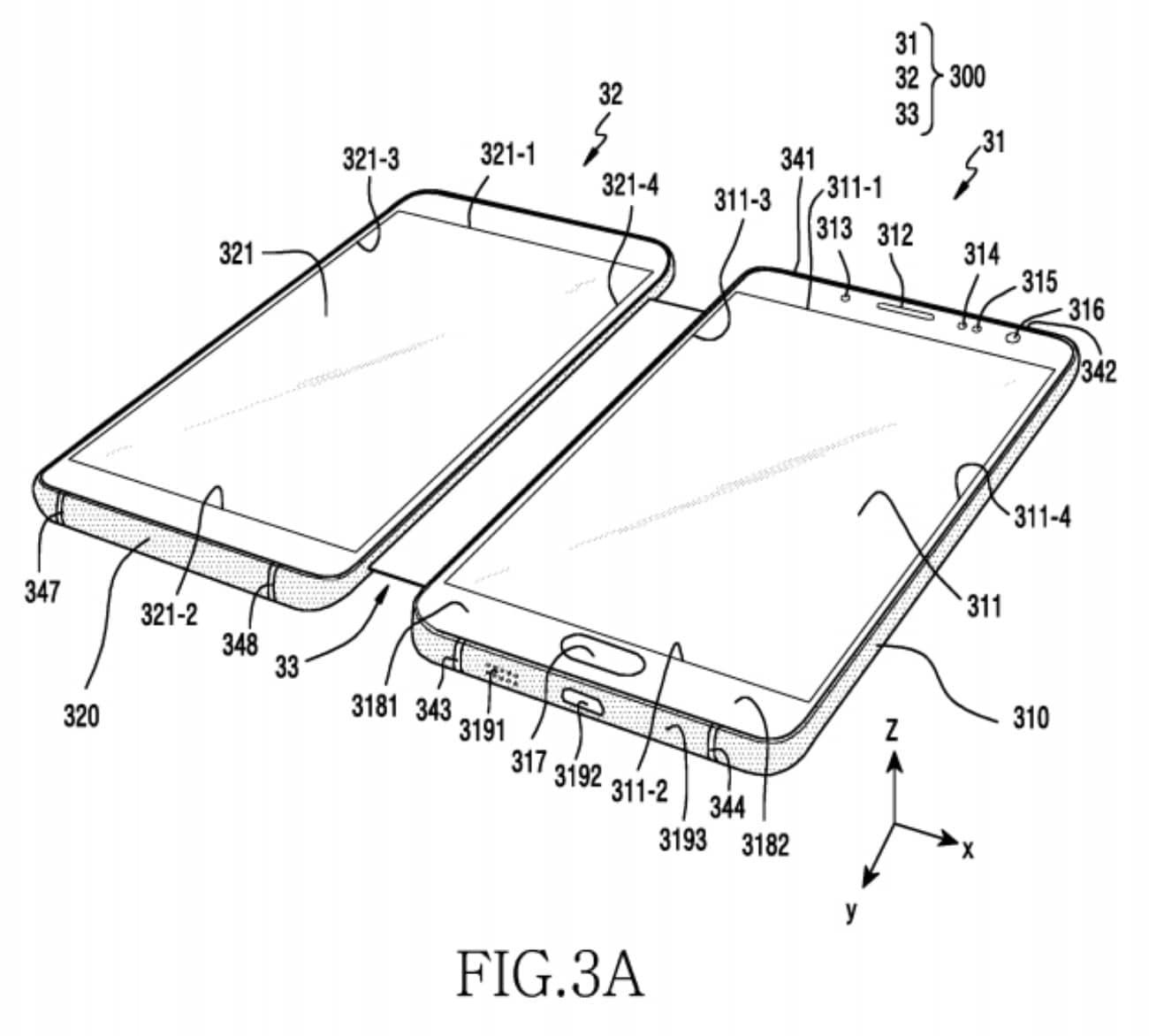 Brevetto Samsung schermo ripiegabile – 1