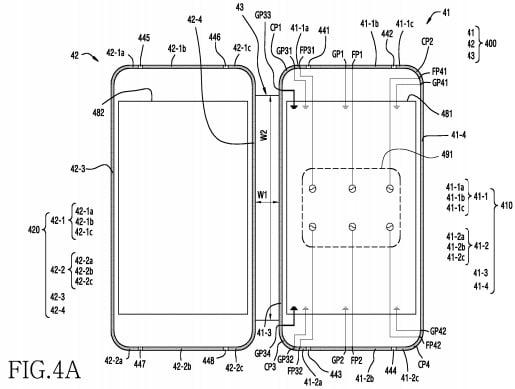 Brevetto Samsung schermo ripiegabile – 2