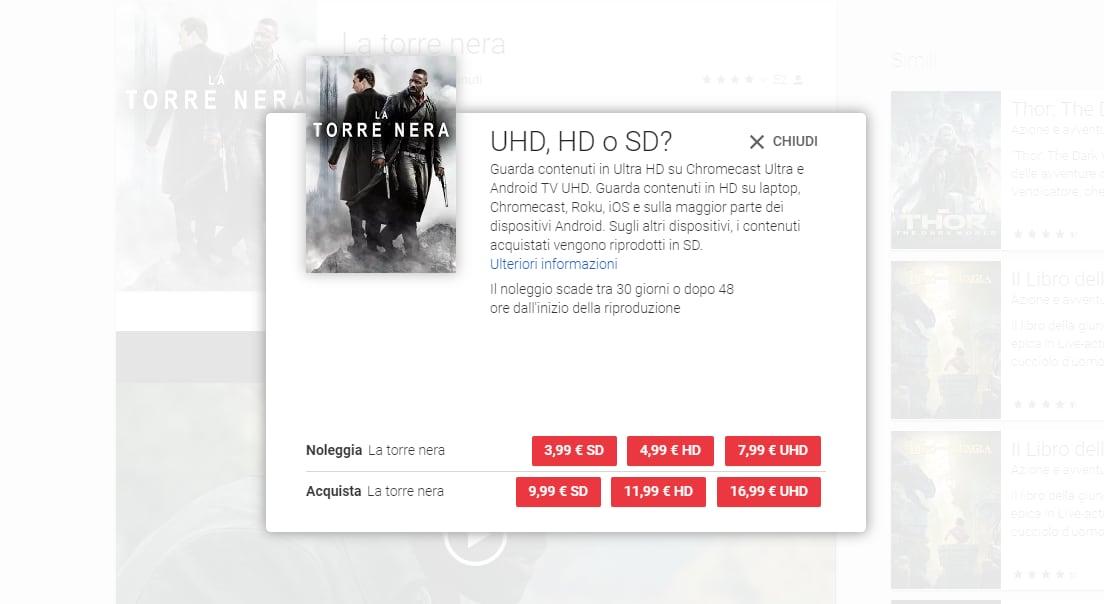 Su Play Movies arrivano i primi film in 4K e HDR: costano di più e per ora non ce ne sono molti