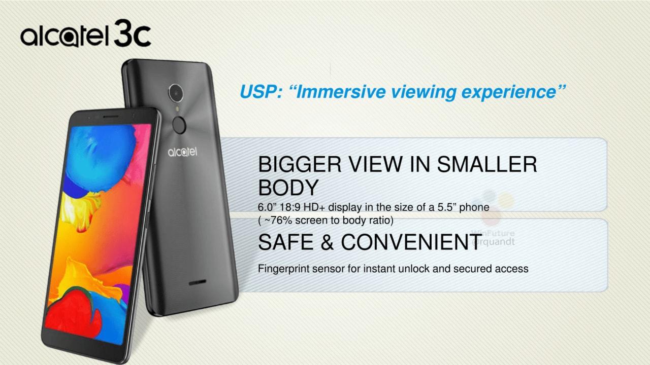 Partirà da Alcatel 3C l'invasione degli smartphone entry level con display in 18:9? (foto)