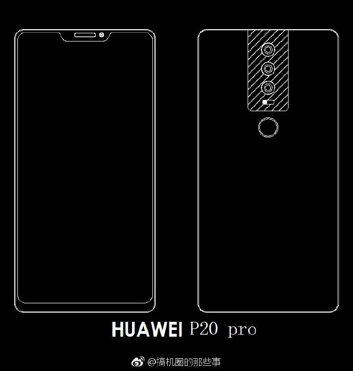 Huawei P20, P20 Plus ed anche P20 Pro: tripla fotocamera posteriore per tutti, notch solo per uno! (foto)