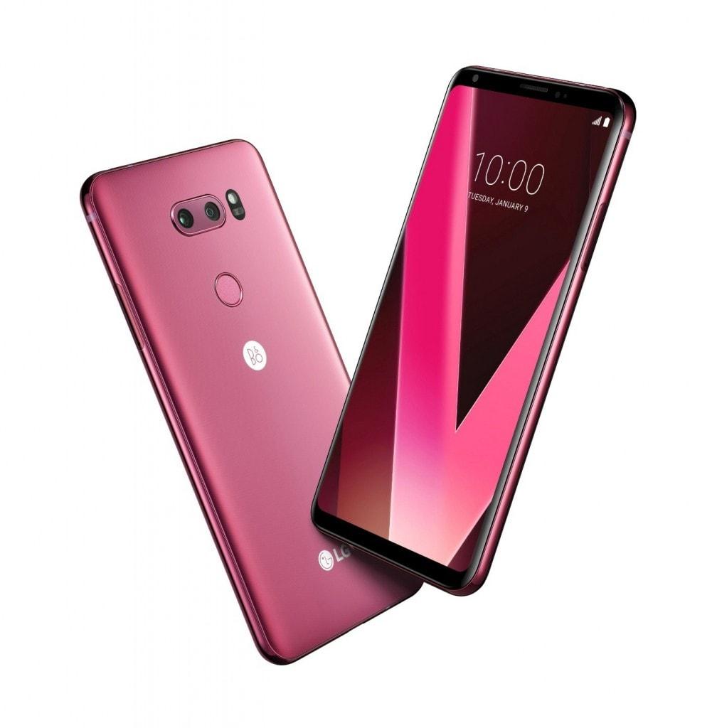 Una nuova edizione di LG V30 in colorazione lampone sarà presentata al CES 2018