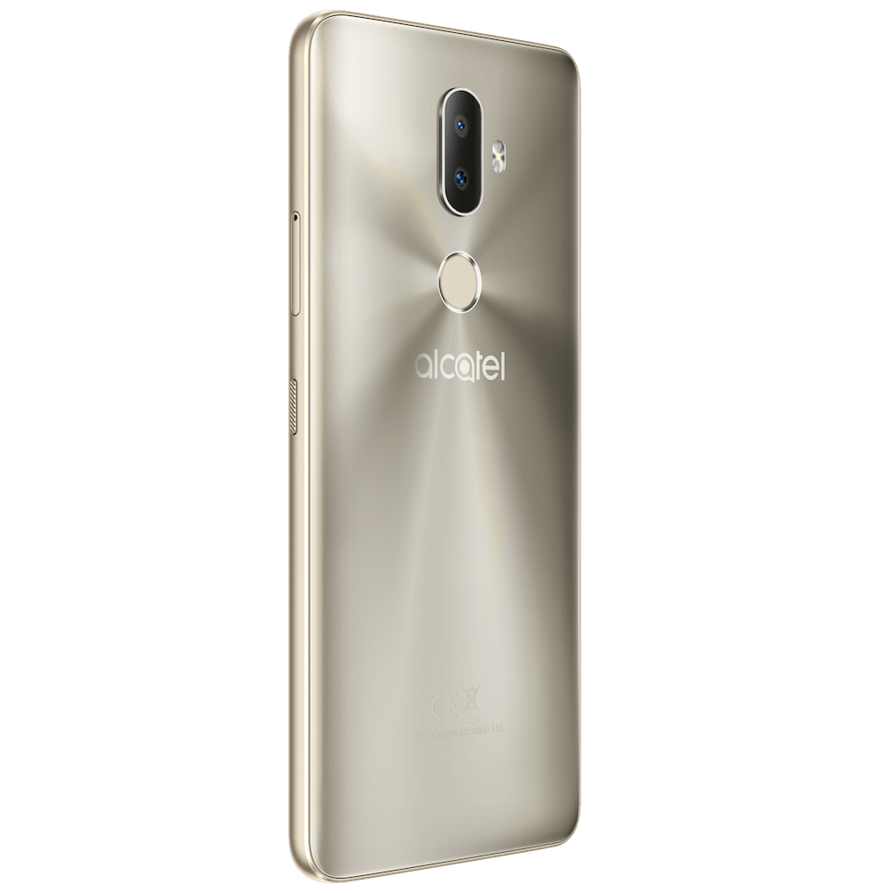 Alcatel 3V_Spectrum Gold_Back Left(CE logo)-min