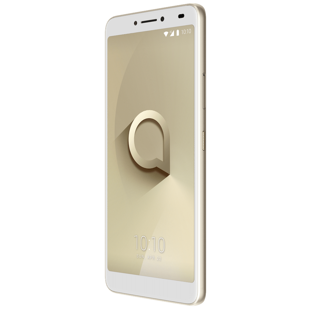 Alcatel 3V_Spectrum Gold_Front Right(with UI)-min