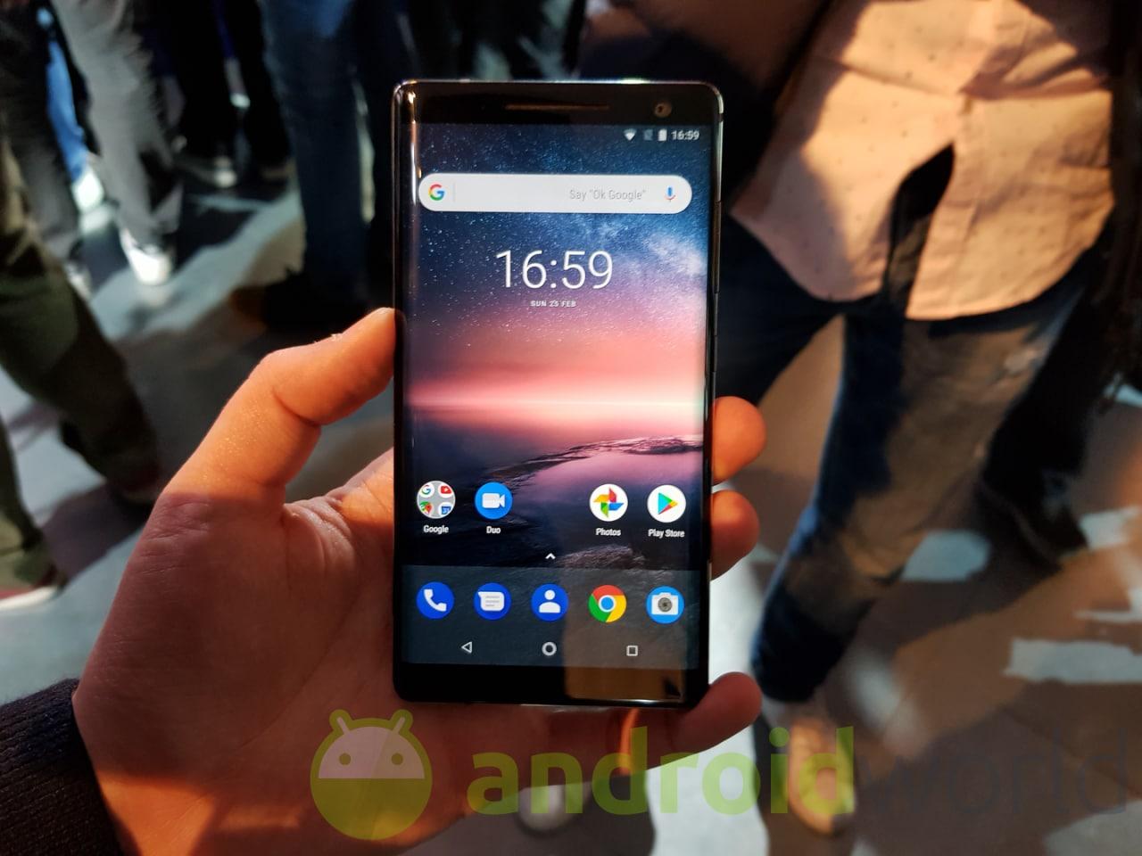 Nokia 8 Sirocco ufficiale: top gamma ancora più elegante e con Android One (anteprima)