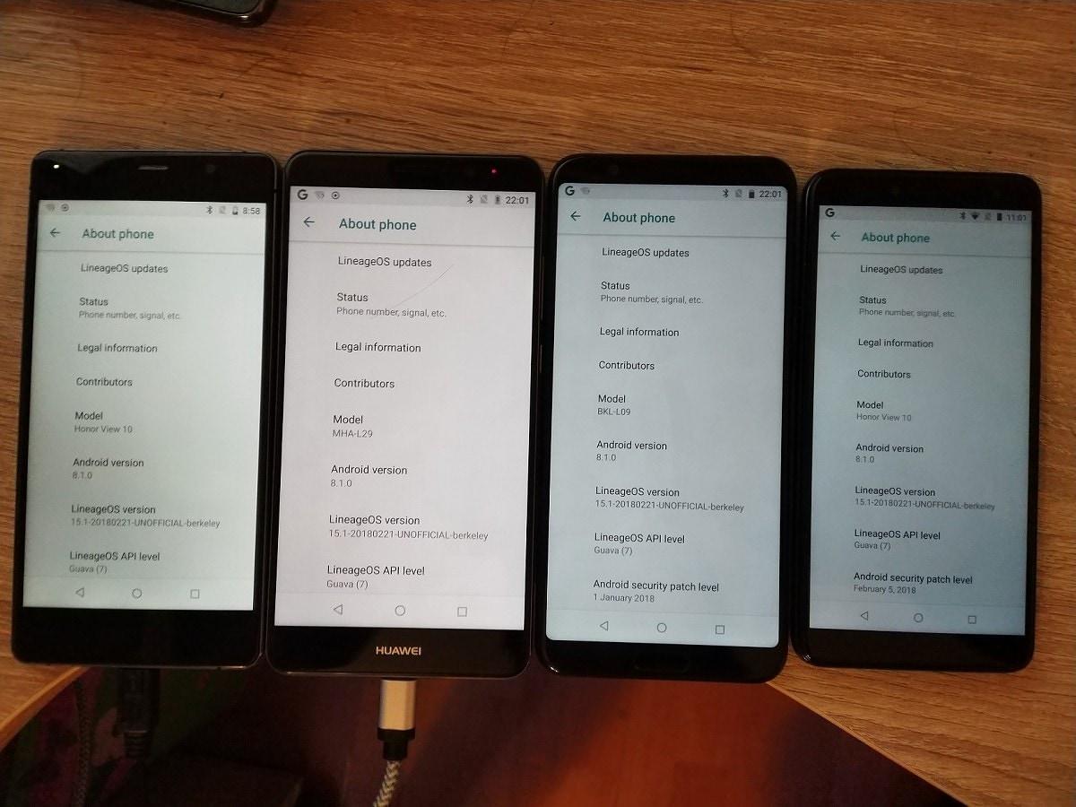 LineageOS 15.1 disponibile per Huawei Mate 10 Pro, Honor View 10 e altri compatibili con Project Treble (foto)