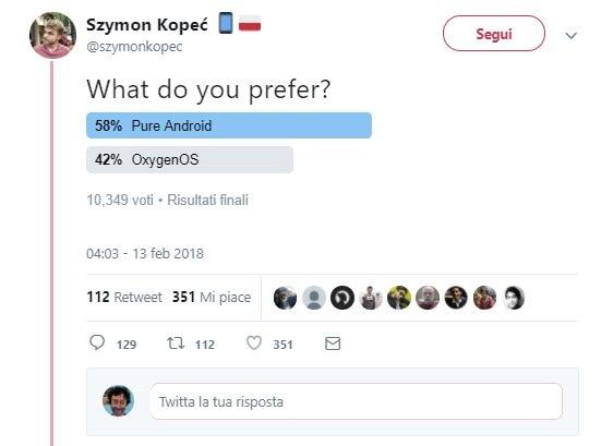 sondaggio oneplus