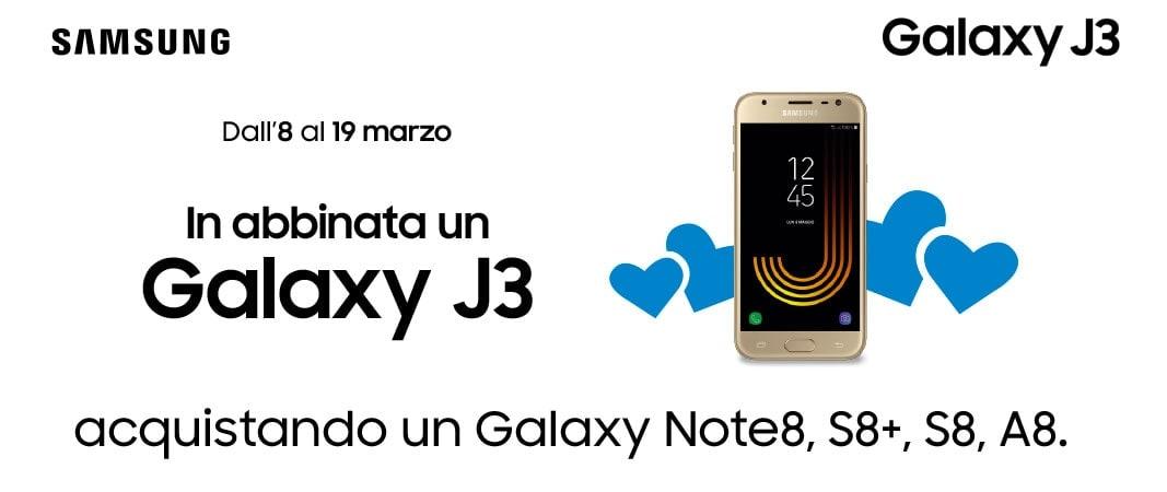 Volete un muletto? Fino al 19 marzo avrete in regalo Galaxy J3 acquistando un altro di questi smartphone Samsung da Unieuro