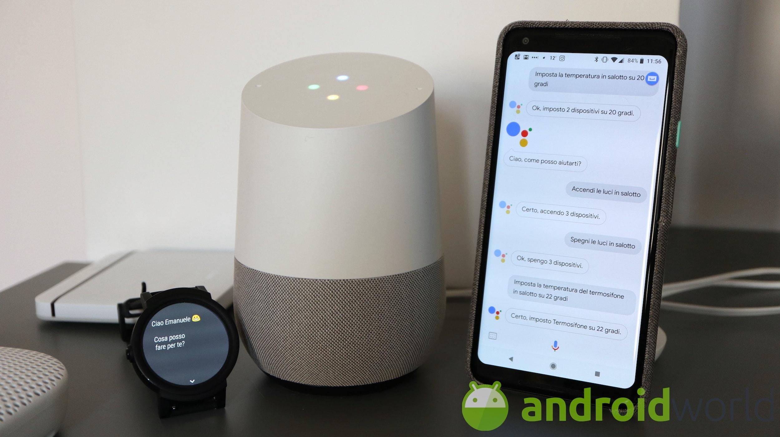 Google assistant in italiano controlla luci e domotica androidworld for Google assistant italia