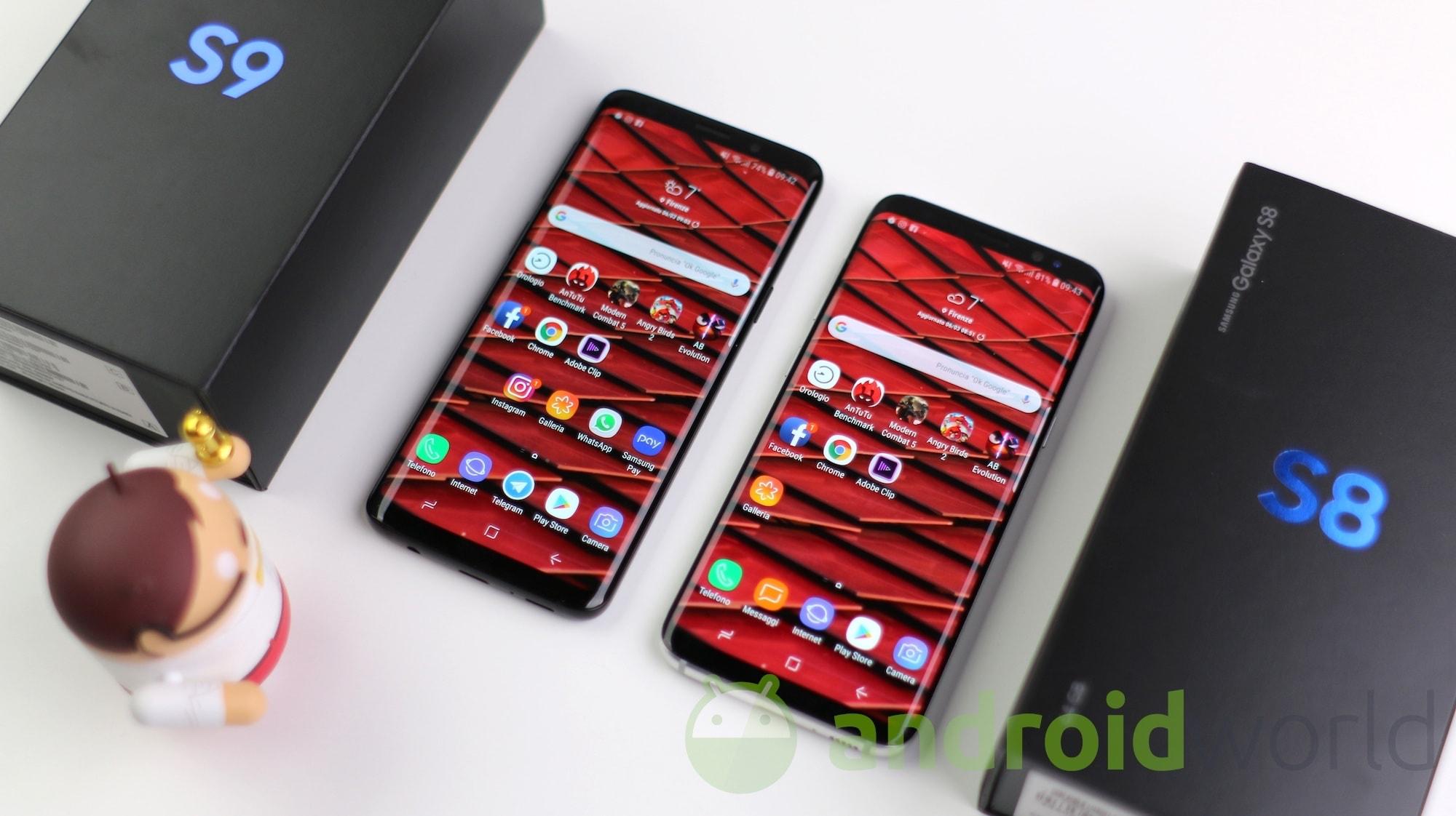 Samsung Galaxy S9 vs Galaxy S8, il confronto (foto e video ...