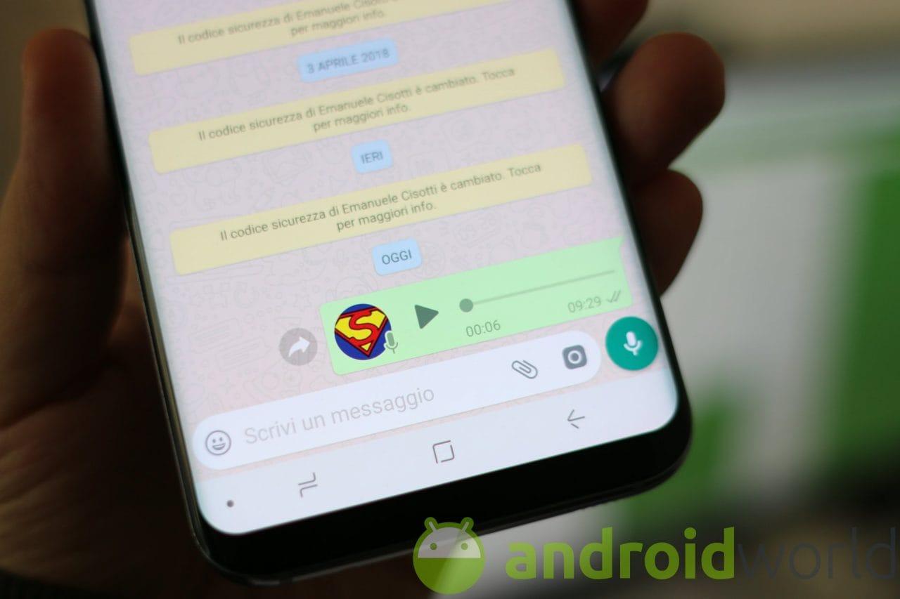 Se amate i messaggi vocali, dovete provare l'ultima beta di WhatsApp: arriva il blocco della registrazione! (foto)