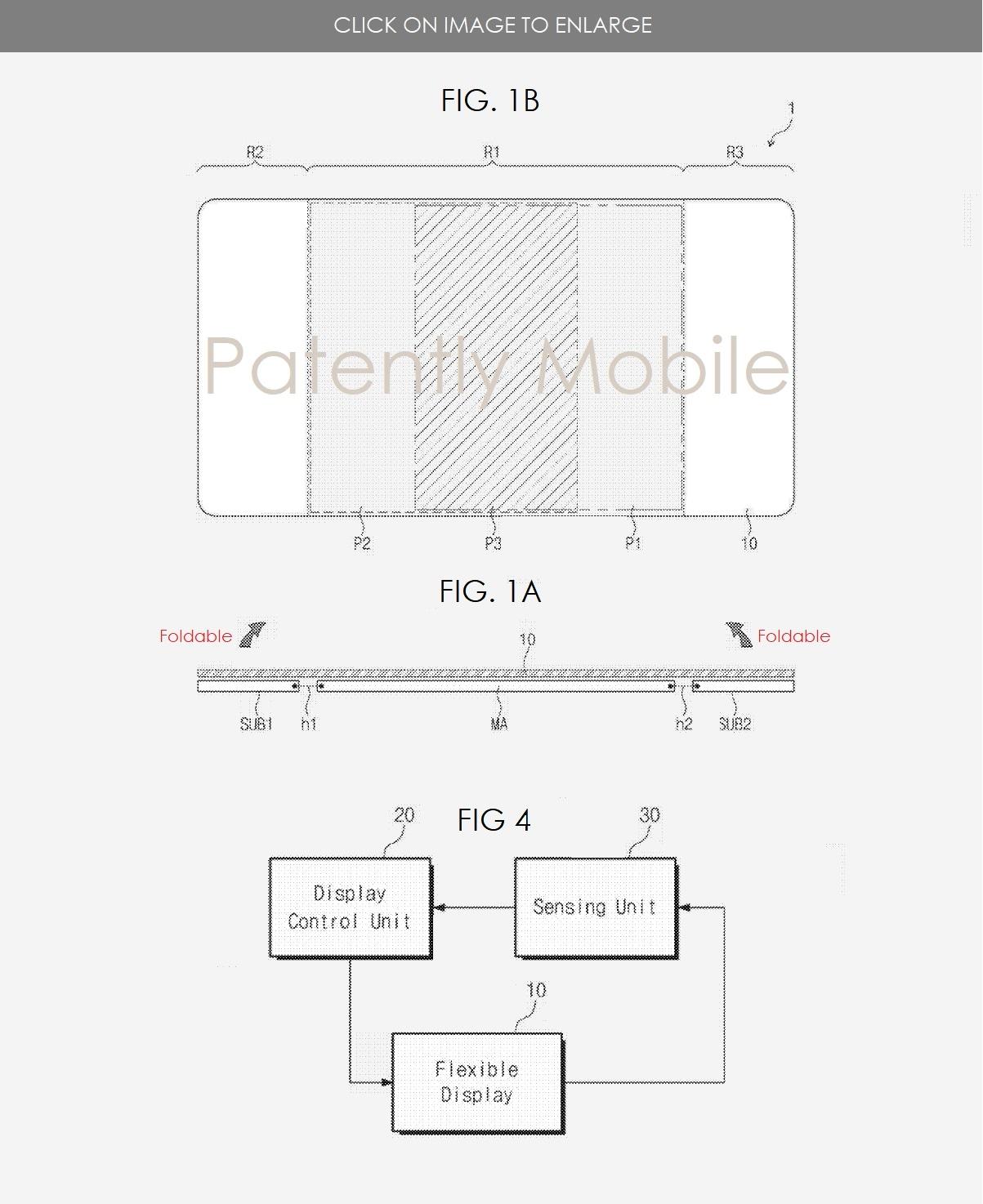 brevetto multi pieghevole samsung