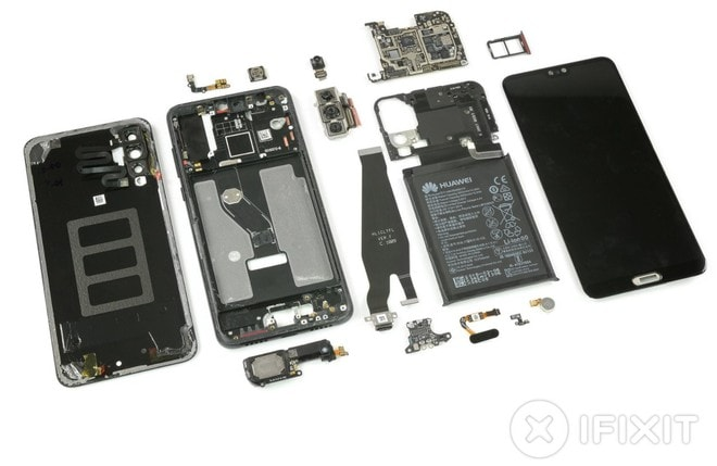 Huawei P20 Pro: iFixit gli dà un bel 4 in riparabilità ma svela che Huawei ha nascosto 2 OIS (ma perché?)