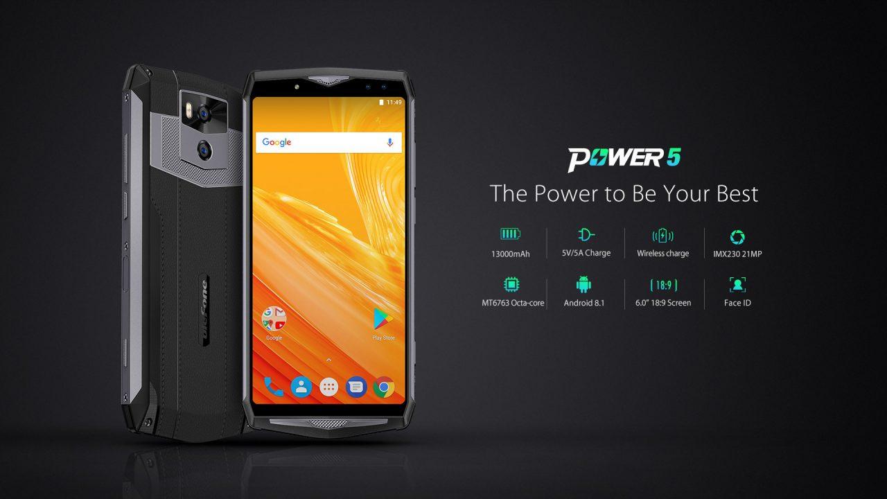 Ulefone Power 5 ufficiale da 13.000 mAh: ecco la batteria che integra uno smartphone (foto)