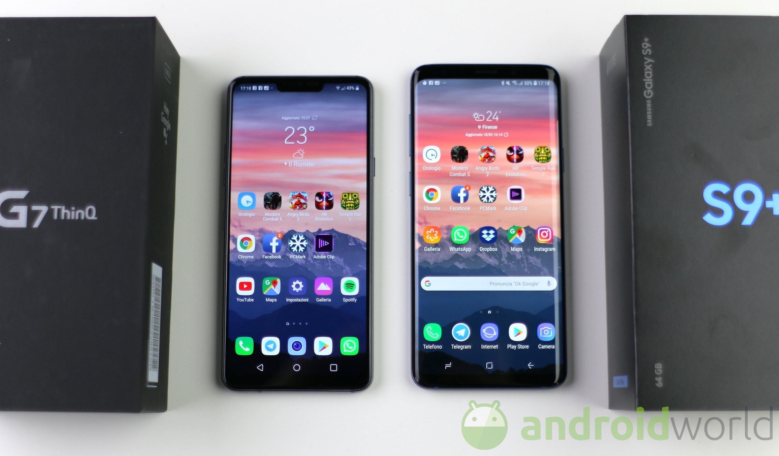 Confronto LG G7 – Galaxy S9 Plus – 1