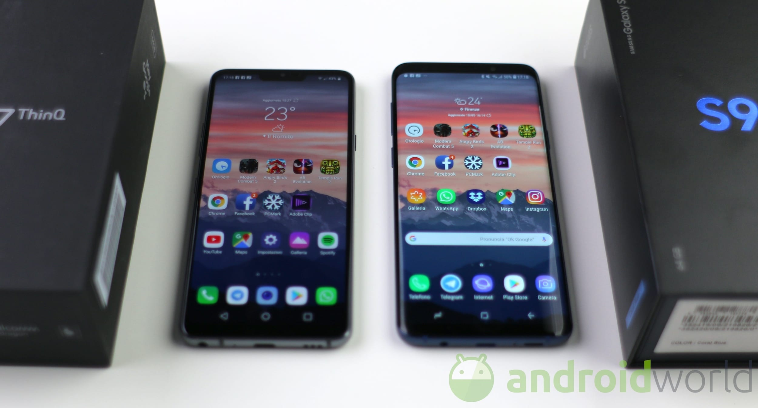 Confronto LG G7 – Galaxy S9 Plus – 2