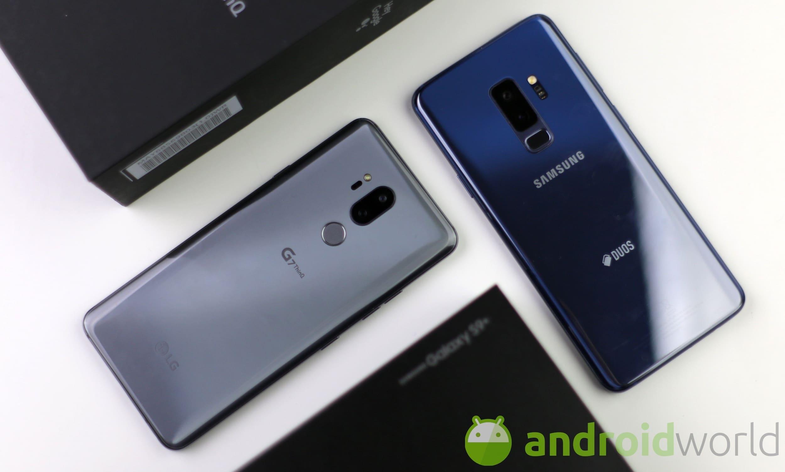 Confronto LG G7 – Galaxy S9 Plus – 8