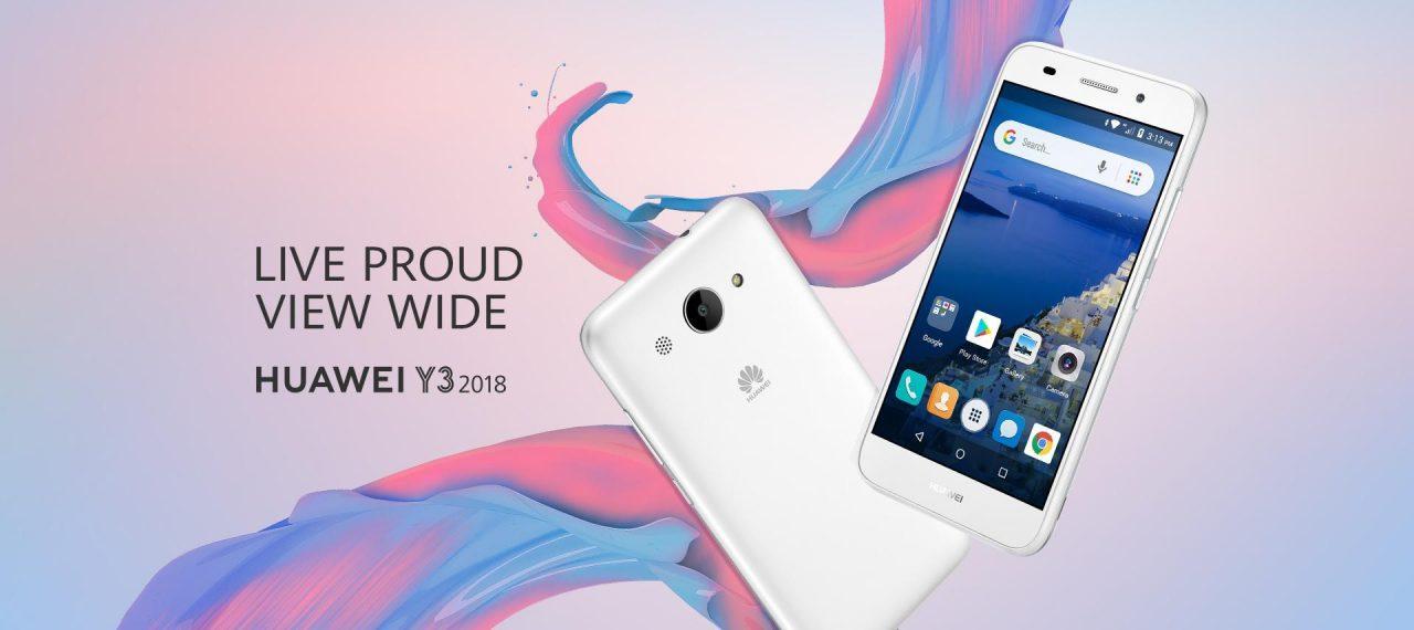 Huawei Y3 (2018) ufficiale: un tuffo nel passato targato Android Go (foto)